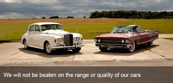 Vintage White Bentley S3 & Cadillac Eldorado Biarritz
