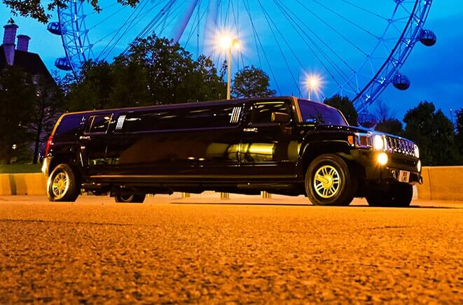 Black Hummer and the London Eye